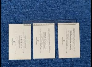 GG: 3x Einladungkarten: Film Heimkehr, Volkskonzert, Vortrag