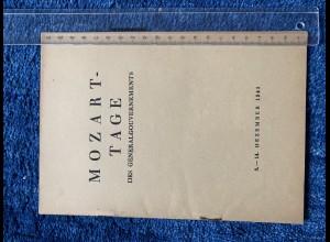GG: Mozart Tage des Generalgouvernements: 1941