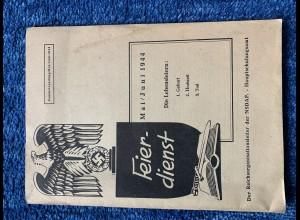 Broschüre: Feierdienst: Geburt, Hochzeit, Tod - NSDAP