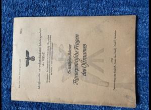 Broschüre: Agrarpolitische Fragen des Ostraums, Schriftenreihe NSDAP