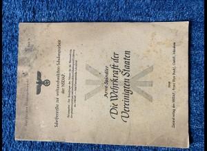 Broschüre: Die Wehrkraft der Vereinigten Staaten, Schriftenreihe der NSDAP