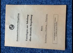 Broschüre: Reichbund deutscher Seegeltung: Schulungsunterlagen