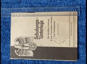 Broschüre: Deutsche Leistung in den USA, NSDAP Schrift