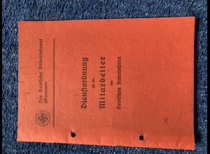 Broschüre: Die deutsche Arbeitsfront: Dienstordnung für Mitarbeiter 1939