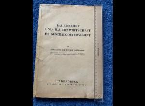 GG: Heft: Bauerndorf und Bauernwirtschaft im GG; 1944