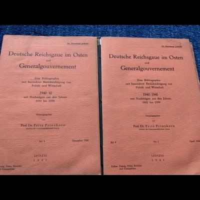 GG: Deutsche Reichsgaue im Osten und GG: Politik und Wirtschaft 1940/41