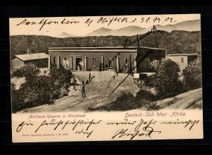DSWA: AK Artillerie-Kaserne in Windhoek vom Lagerverwalter dt.-engl. Expedition