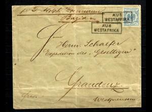 Togo 1893: Anlandestempel Aus Westafrika, Bagida, nur wenige Belege bekannt