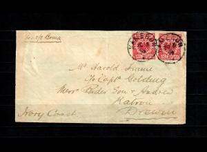 Kamerun: 1896: Brief mit Leitvermerk per S/s Boma nach Drewin/Elfenbeinküste