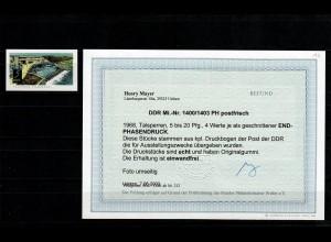 DDR MiNr. 1400/1403 PH, postfrisch, **, Phasendruck für Ausstellungszwecke