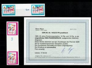 DDR MiNr. 1432/1433 PH, postfrisch, **, END-Phasendruck für Ausstellungszwecke