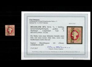 Helgoland MiNr. 7c, Type II, gestempelt, BPP Befund