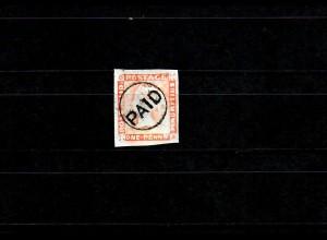Mauritius: gestempelt PAID, rückseitige Signatur
