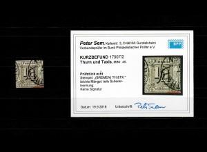 Thurn & Taxis MiNr. 45, Stempel Bremen, BPP Befund
