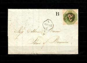 GB 1847: # 7b, SG 55, Bank of England to Bermuda, several certificates