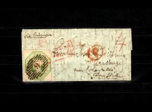GB 1847: # 7b, SG 55, London chief office to Arnsberg, 2x certificates