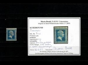 Preussen MiNr. 7c x, ungebraucht, ohne Gummi, BPP Befund