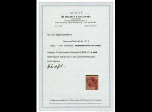 DR MiNr. 151Y (Wz Kreuzblüten), schön gestempelt Friedrichhafen, BPP Attest