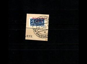 Wohnungsbaumarke MiNr. 1W, gestempelt Tailfingen, Briefstück, BPP Attest