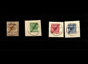 Marshall-Inseln 1899, MiNr. 1-4 (1Ia, 2I mit BPP Attest), gestempelt Jaluit