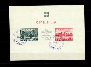 Serbien MiNr. Block 1-2, gestempelt 22.9.41