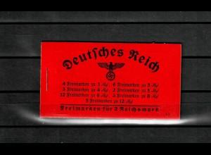 DR: Markenheftchen MH 39.1, postfrisch, **, komplett
