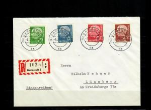 Bund MiNr. ex 179-260y auf R-Brief Darmstadt nach Lüneburg