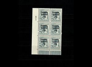 SBZ MiNr. 186 DV im 6er Block vom Eckrand mit Druckvermerk