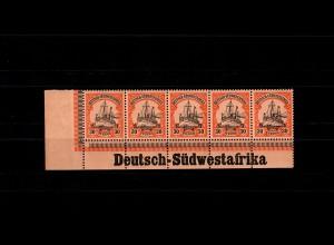 DSWA: MiNr. 16, postfrisch, **, 1x winzig angetrennt, Eckrand, Inschrift