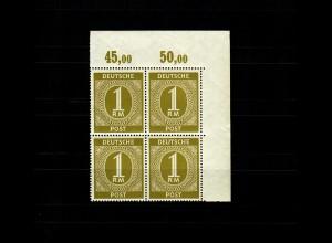 BiZone: MiNr. 937y, **, postfrischer Viererblock, Eckrand