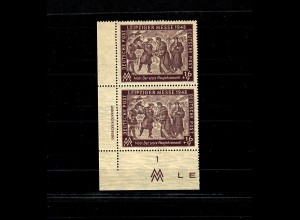 SBZ: MiNr. 198y D2, postfrisch, **, Borkengummi: Michel ohne Preis, Eckrand, BPP