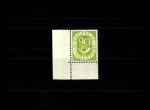 Bund: MiNr. 138, E3, Eckrand, postfrisch, **, sehr breitrandig