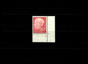 Bund: MiNr. 192, E4, Eckrand, SektorenNummer. 2, ungefaltet, **, postfrisch