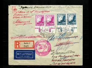 DR: R-Luftpostbrief, 1937: Zeppelin Südamerika nach Rio de Janeiro, Mi.532/4 HAN