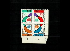 DDR: MiNr. 901-904, Unterrand, Verzähnung, postfrisch, **