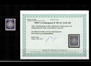 DDR Verwaltungspost MiNr. 21xII XII, postfrisch, **