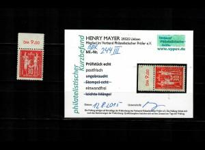 DDR MiNr. 244 III, postfrisch, **