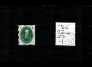 """DDR MiNr. 262 I, Punkt unter rechter """"5"""", postfrisch, **"""