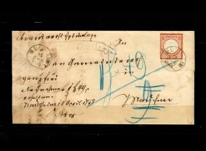 DR: MiNr. 27a, auf Nachnahme Brief von Mühlheim, BPP Befund