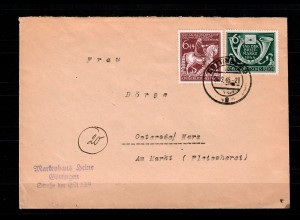 DR: MiNr. 904 I, auf Brief von Göttingen nach Osterode, 26.2.45