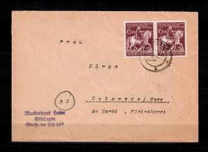DR: MiNr. 907 I, Plattenfehler auf Brief von Göttingen nach Osterode, 23.3.45
