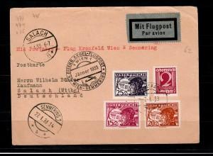 A: Postkarte Flugpost Kroisbach nach Salach (D), Segelflug-Post 1933