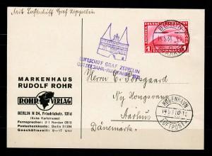 Postkarte 1931 Luftschiff Graf Zeppelin Berlin-Kopenhagen,Ostseejahr-Rundfahrten