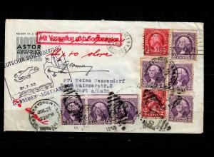 1935: Bremen Southampton, Schleuderflug, Vorausflug, USA to Frankfurt/M