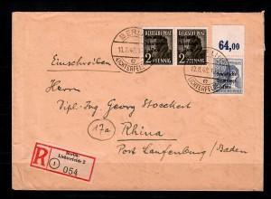 Einschreiben von Berlin-Lichtenfelde nach Rhina, MiNr. 196 P OR dgz