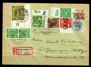 Einschreiben Berlin-Steglitz nach Göppingen,MiNr. 930P OR; Falsches Stempeldatum