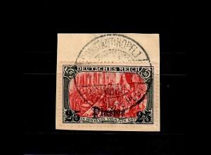Dt. Post Türkei: MiNr. 35 auf Briefstück, gestempelt Constantinopel