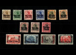 Dt. Post Marokko: MiNr. 47-58, gestempelt