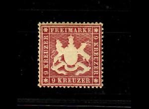 Württemberg: MiNr. 19yb, *, Originalgummi, winzige Mängel, tolles frisches Stück