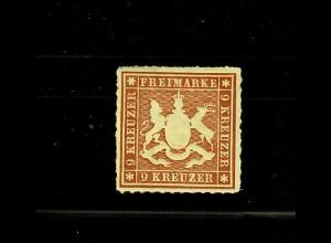 Württemberg: MiNr. 33a, *, Luxusstück, BPP Signatur